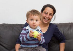 Fabian und seine Mutter Sandra