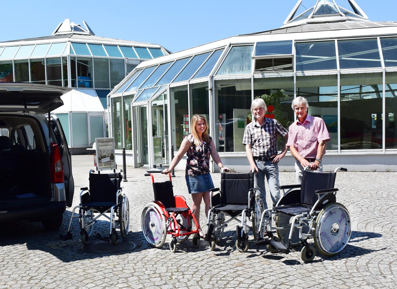 Im Grugapark kann man jetzt Rollstühle ausleihen